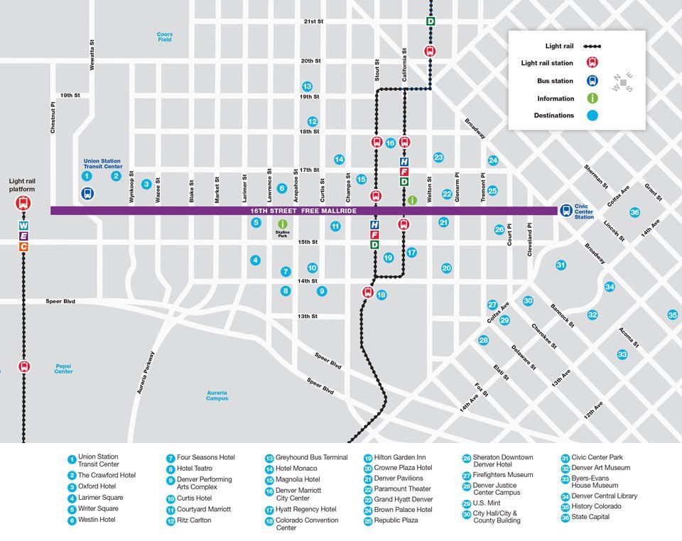 16th street mall ride map
